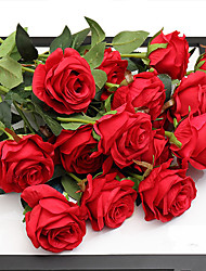 cheap -Artificial Flowers 5 Branch Wedding / European Style Roses Tabletop Flower