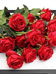 preiswerte -5 Ast Seide Rosen Tisch-Blumen Künstliche Blumen