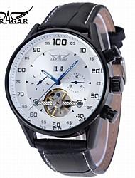 abordables -Hombre Reloj de Moda Reloj de Vestir Reloj de Pulsera Reloj Casual Cuerda Automática Calendario Piel Banda Casual Cool