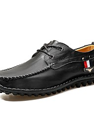 Cipele Prava koža Koža Proljeće Jesen Udobne cipele svečane cipele Cipele za ronjenje Oksfordice za Kauzalni Crn Braon Žutomrk