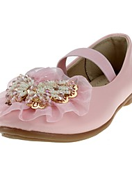 cheap -Girls' Shoes Leatherette Spring & Summer Comfort / Flower Girl Shoes Flats Appliques / Gore for White / Pink / Wedding