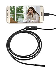 economico -usb endoscopio fotocamera 5.5mm lente impermeabile ip67 ispezione borescope serpente notte video cam 2 m cavo duro per pc android