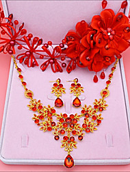 cheap -Women's Headwear Necklace Synthetic Diamond Alloy Crown Leaf Sweet Wedding Party Birthday Engagement Valentine Costume Jewelry