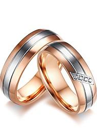 Муж. Жен. Набор колец Обручальное кольцо Цирконий Стразы Цирконий Титановая сталь Бижутерия Назначение Свадьба Для вечеринок