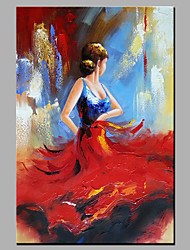 cheap -Hand-Painted People Vertical,Modern One Panel Canvas Oil Painting For Home Decoration