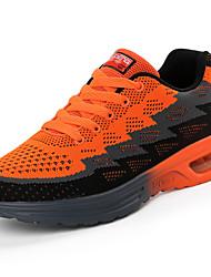 baratos -Homens sapatos Borracha Primavera Outono Conforto Tênis Basquete Botas Curtas / Ankle Cadarço de Borracha para Ao ar livre Laranja Azul
