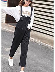 economico -Da donna Moda città Media elasticità Tuta da lavoro Pantaloni,Tinta unita