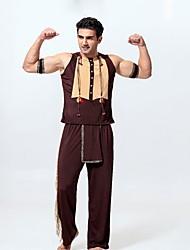 economico -indiano americano Costumi Cosplay Per uomo Halloween Carnevale Oktoberfest Feste / vacanze Costumi Halloween Marrone Vintage