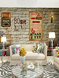 abordables -Estampado Art Decó 3D Fondo de pantalla Para el hogar Moderno Clásico Rústico Revestimiento de pared , Lienzos Material adhesiva requerida