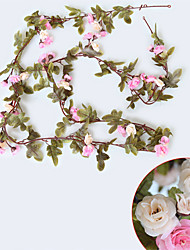 Недорогие -1 Филиал Шелк Розы Цветы на стену Искусственные Цветы