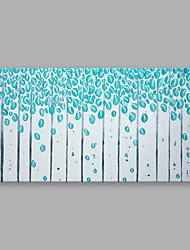 preiswerte -Handgemalte Blumenmuster/Botanisch Horizontal,Modern Ein Panel Leinwand Hang-Ölgemälde For Haus Dekoration