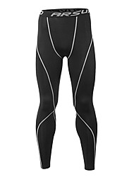 cheap -Arsuxeo Men's Running Tights Gym Leggings Fitness, Running & Yoga Moisture Wicking Three Dimensional Tailor Soft 3/4 Tights Bottoms Yoga