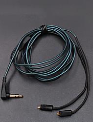 abordables -kz zs5 / zs6 línea original conectable cable de calidad no destructiva 0.75mm - negro