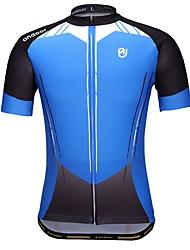 Недорогие -Велокофты Муж. С короткими рукавами Велоспорт Джерси Одежда для велоспорта Быстровысыхающий Стреч Воздухопроницаемость Геометрический