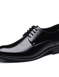 cheap -Men's Driving Shoes Canvas Spring / Summer Business / Comfort Oxfords Black / Brown / Party & Evening
