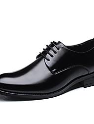 Недорогие -Муж. Обувь для вождения Полотно Весна / Лето Деловые / Удобная обувь Туфли на шнуровке Черный / Коричневый / Для вечеринки / ужина