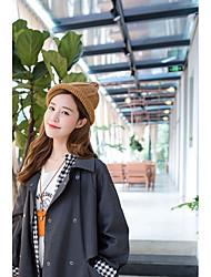 Для женщин Очаровательный На каждый день Широкополая шляпа,Осень Зима Вязанная Однотонный Стильные