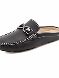 Недорогие -Для мужчин обувь Кожа Весна Осень Удобная обувь Башмаки и босоножки С кисточками Назначение Повседневные Белый Черный