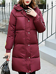 cheap -Women's Padded Coat,Casual Cotton Letter-Cotton Long Sleeves