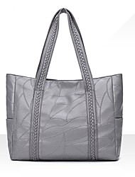 preiswerte -Damen Taschen PU Umhängetasche Reißverschluss Gestuft für Formal Alle Jahreszeiten Schwarz Rosa Grau