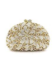 preiswerte -Damen Taschen Metal Abendtasche Kristall Verzierung / Blume für Hochzeit / Veranstaltung / Fest Gold