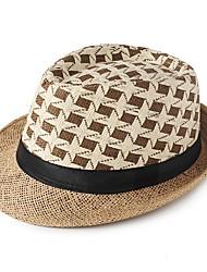 Недорогие -Для мужчин На каждый день Соломенная шляпа,Лето Солома Цветочный Рисунок
