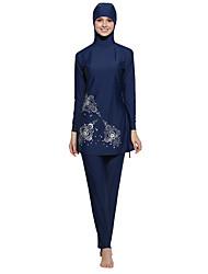 cheap -Women's Floral Tankini Swimwear Navy Blue Gray