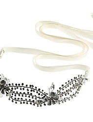 cheap -Chiffon Rhinestone Alloy Headbands Flowers with Faux Pearl 1pc Wedding Special Occasion Birthday Party / Evening Headpiece