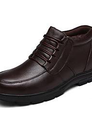 abordables -Homme Chaussures Similicuir Cuir Hiver Automne Confort Basket Marche pour Décontracté Noir Marron