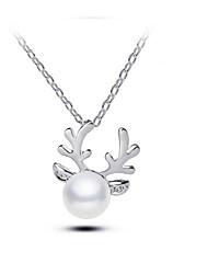 женские подвесные ожерелья имитация жемчужного сплава животных дизайн ювелирные изделия для вечеринки Рождество