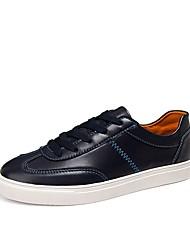メンズ 靴 PUレザー 春 秋 コンフォートシューズ ライト付きソール スニーカー 用途 スポーツ ホワイト ブラック ブルー