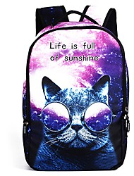 cheap -Unisex Bags Polyester Backpack Pattern / Print Zipper for Casual Outdoor All Season Gold Light Purple
