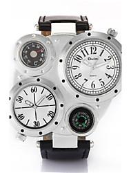 Недорогие -Муж. Кварцевый Наручные часы Модные часы Японский Защита от влаги Термометр Фосфоресцирующий Компас Кожа Группа На каждый день
