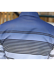 Men's Daily Wear Vintage Shirt,Striped Shirt Collar Long Sleeves Cotton