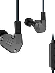 ZS6 В ухе Проводное Наушники Сбалансированная арматура Aluminum Alloy Металл Pro Audio наушник С микрофоном HIFI Двойные драйверы наушники