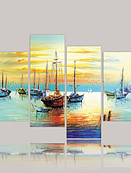 cheap -Canvas Print Modern,Four Panels Canvas Horizontal Print Wall Decor For Home Decoration
