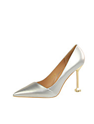 cheap -Women's Shoes Leatherette Spring / Fall Comfort Heels Stiletto Heel Pointed Toe for Party & Evening / Dress Red / Pink / Nude