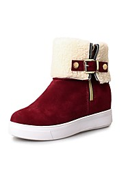cheap -Women's Shoes Leatherette Fall Winter Fashion Boots Snow Boots Boots Creepers Round Toe Booties / Ankle Boots for Party & Evening Black