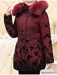 Standard Parka Da donna,Cappotto Semplice Casual Tinta unita Cotone Maniche lunghe