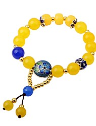 cheap -Women's Onyx Lovely Strand Bracelet - Fashion Circle Yellow Bracelet For Gift Going out