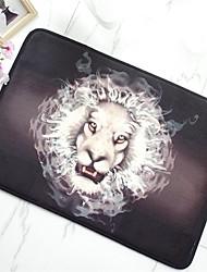 tapete de piso antiderrapante criativo de padrão de leão