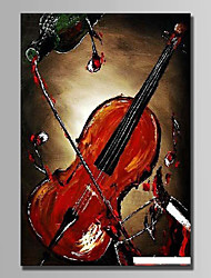 cheap -Hand-Painted Still Life Vertical,Abstract 1pc Canvas Oil Painting For Home Decoration