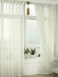 cheap -Grommet Top Double Pleat Pencil Pleat Curtain Modern , Printed Solid Living Room Linen Material Sheer Curtains Shades Home Decoration