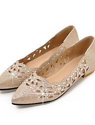 cheap -Women's Shoes Sparkling Glitter Spring Fall Comfort Novelty Flats Pointed Toe For Wedding Party & Evening Silver Gold