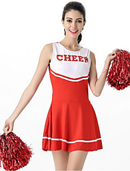 cheap -Cheerleader Costume Cosplay Costume Women's Carnival Festival / Holiday Halloween Costumes Black Pink Red Color Block