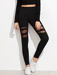 cheap -Women's Weekend Stitching Legging - Color Block