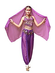 cheap -Gypsy Outfits Female Christmas Halloween Festival / Holiday Halloween Costumes Yellow Blue Purple Red