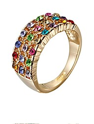 cheap -Women's Cubic Zirconia Gold Plated - Sweet Assorted Color Ring For Party / Gift