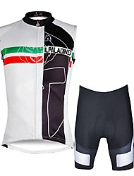cheap -ILPALADINO Men's Sleeveless Cycling Jersey with Shorts - White Bike Vest/Gilet Padded Shorts/Chamois Clothing Suits, Quick Dry, 3D Pad