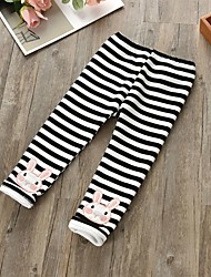 cheap -Girls' Striped Pants,Cotton Winter Spring Cute Cartoon Black Blushing Pink
